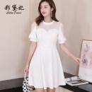 Dress Summer of 2019 White black red green S M L XL XXL Short skirt singleton  commute High waist Others 25-29 years old Caidaifei Korean version 831RX More than 95% polyester fiber Polyester fiber 94.9% polyurethane elastic fiber (spandex) 5.1%