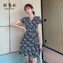 Dress Summer 2020 black S M L XL XXL Short skirt singleton  Short sleeve commute V-neck Decor 25-29 years old Caidaifei Korean version More than 95% polyester fiber Polyester fiber 97.1% polyurethane elastic fiber (spandex) 2.9%