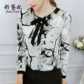 shirt Ink painting S M L XL XXL Spring of 2019 polyester fiber 96% and above Long sleeves commute Regular other other 25-29 years old Self cultivation Caidaifei Korean version C567RX Polyester 100%