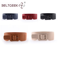 Belt / belt / chain Pu (artificial leather) Light brown apricot dark blue red black female belt Versatile Single loop Middle aged youth Pin buckle Leather Wrap Glossy surface alloy Tightness BELTGEEK Spring of 2019