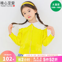 Sweater / sweater 100/S 110/M 120/L 130/XL 140/XXL 150/3XL 160/FREE cotton female Yellow pink Lavender Red Navy Blue Idealist favorite  Versatile There are models in the real shooting Solid color Cotton 100% JTSOU18 Class B Spring 2021 spring