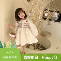 Dress Apricot female Other / other 80cm,90cm,100cm,110cm,120cm,130cm,140cm Other 100% spring and autumn Korean version Long sleeves other A-line skirt A2320 Class B 2 years old, 3 years old, 4 years old, 5 years old, 6 years old, 7 years old Chinese Mainland Zhejiang Province