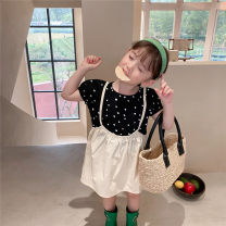 Dress Apricot, blue female Other / other 90cm,100cm,110cm,120cm,130cm,140cm Other 100% summer Korean version Short sleeve Dot other Fluffy skirt other Seven, three, six, two, five, four Chinese Mainland Zhejiang Province Wenzhou City