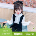 Dress white female Other / other 90cm,100cm,110cm,120cm,130cm,140cm Other 100% spring and autumn Korean version Long sleeves Solid color other A-line skirt Class B 2 years old, 3 years old, 4 years old, 5 years old, 6 years old, 7 years old Chinese Mainland Zhejiang Province