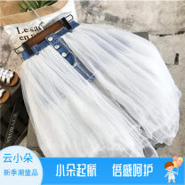 skirt Size 7 (recommended height below 90), size 9 (recommended height below 100), size 11 (recommended height below 110), size 13 (recommended height below 120), size 15 (recommended height below 130), size 17 (recommended height below 140), size 19 (recommended height below 150) White d605 female