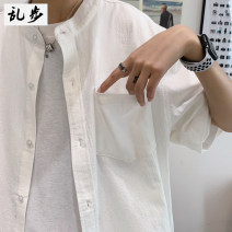 shirt Youth fashion Ramo / rambling S M L XL 2XL 3XL 4XL White black white- routine Pointed collar (regular) Short sleeve easy daily summer 20D321 youth Cotton 100% tide 2020 Solid color Summer 2020