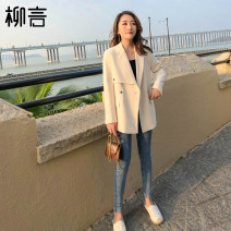 suit Spring 2021 Black apricot S M L Long sleeves Medium length easy tailored collar A button commute routine Solid color 96% and above polyester fiber Liu Yan Button Polyester 100% Pure e-commerce (online only)