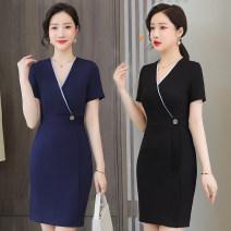 Professional dress suit S M L XL XXL 3XL 4XL 5XL Short sleeve black dress short sleeve blue dress Summer 2021 Short sleeve SBFR-0088088 Other styles other 25-35 years old Lady 38 Polyamide fiber (nylon) 94.8%, polyurethane elastic fiber (spandex) 5.2% Pure e-commerce (online only)