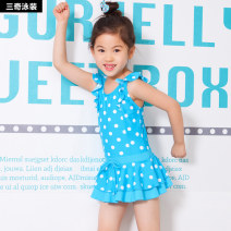 Children's swimsuit / pants Sanqi M L XL XXL (this Swimsuit Size is too small, please consult customer service for details) Red, blue, yellow Children's one piece swimsuit female nylon sq1506 Spring 2020 yes