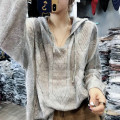 Wool knitwear Autumn of 2019 S M L XL XXL Black Khaki for grey Khaki Green Long sleeves singleton  Socket other More than 95% Regular Thin money commute easy Hood routine Solid color Socket Korean version QL7337 Pretty dew Other 100% Pure e-commerce (online only)