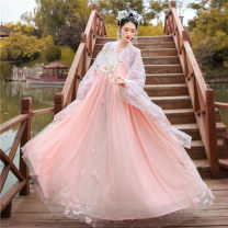 Dress Spring of 2019 Luoshen Fu shangru (pre-sale) Luoshen Fu 4.5 m Qixiong Ru skirt (pre-sale) Luoshen Fu shangru (spot) Luoshen Fu 4.5 m Qixiong Ru skirt (spot) XS S M L longuette Long sleeves commute square neck High waist Solid color Big swing 18-24 years old Type A Your majesty, lantaxi Retro