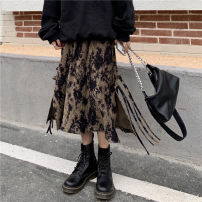 skirt Winter 2020 S,M,L Ink color Mid length dress commute High waist A-line skirt other Type A 18-24 years old 2020.11.25 More than 95% other polyester fiber Fold, tie, tie dye Korean version 401g / m ^ 2 (inclusive) - 500g / m ^ 2 (inclusive)