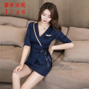 Hotel uniform Winter of 2019 S M L XL XXL XXXL MJ823 18-25 years old Teng family Annie Polyester fiber 90.2% polyurethane elastic fiber (spandex) 9.8% Pure e-commerce (online only) spandex 96% and above