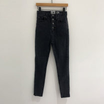 Casual pants Black, blue S,M,L,XL Summer 2020 trousers Straight pants High waist commute routine 25-29 years old 81% (inclusive) - 90% (inclusive) Other / other other Korean version pocket