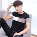 T-shirt Youth fashion thin M L XL 2XL 3XL San disco Short sleeve Crew neck Self cultivation Other leisure summer teenagers routine Youthful vigor other Autumn of 2018 Solid color Assembly other No iron treatment Fashion brand Pure e-commerce (online only)