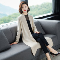 Wool knitwear Autumn of 2019 M L XL XXL Black gray coral red Beige Long sleeves singleton  Cardigan other More than 95% Medium length Thin money commute easy V-neck routine Solid color Korean version HJS19270315665544844 Huanjinshan / golden fir Resin fixation Other 100% Pure e-commerce (online only)