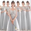Dress / evening wear Weddings, adulthood parties, company annual meetings, daily appointments XS S M L XL XXL Korean version longuette middle-waisted Winter of 2018 Self cultivation One shoulder Bandage 18-25 years old elbow sleeve Solid color Aipioeir / Aibo routine Polyester 90% other 10%