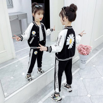 suit Song Flag 110cm 120cm 130cm 140cm 150cm 160cm 165cm female spring and autumn motion Long sleeve + pants 2 pieces routine There are models in the real shooting Single breasted nothing other other children Learning reward TZ243 Class B Other 100% Spring 2020 Chinese Mainland