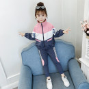 suit Song Flag 110cm 120cm 130cm 140cm 150cm 160cm female spring and autumn leisure time Long sleeve + pants 2 pieces routine There are models in the real shooting Zipper shirt nothing other other children Expression of love Class B Other 100% Spring 2020 Chinese Mainland