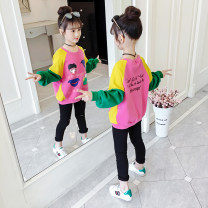 T-shirt Song Flag 110cm 120cm 130cm 140cm 150cm 160cm female spring and autumn Long sleeves Crew neck Korean version There are models in the real shooting nothing other Cartoon animation Other 100% Class B other Spring 2020 Chinese Mainland