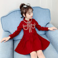 Dress Red ly340 female Song Flag 100cm 110cm 120cm 130cm 140cm 150cm 160cm Other 100% spring and autumn Korean version Long sleeves other other Lotus leaf edge LY340 Class B Spring 2020 Chinese Mainland