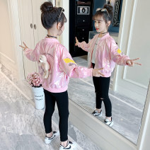 Plain coat Song Flag female 110cm 120cm 130cm 140cm 150cm 160cm spring and autumn Korean version Zipper shirt There are models in the real shooting routine nothing other other other WT231 Other 100% Class B Spring 2021