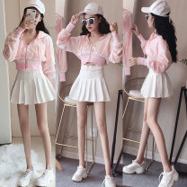 National costume / stage costume Autumn of 2018 6821 pink + 6820 white 6821 black + 6820 white 6821 silver + 6820 white 6821 pink + 6820 black 6821 black + 6820 black 6821 silver + 6820 black 6820 white skirt 6820 black skirt 6821 pink single top 6821 black single top 6821 silver single top