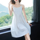 Dress Summer 2021 longuette Sleeveless singleton  commute Solid color Crew neck Loose waist Condom A-line skirt 30-34 years old routine More than 95% Type A other camisole SRF202159-816 Korean version Fold splicing Shang Rongfei Other 100% Pure e-commerce (online sales only) M L XL XXL