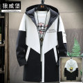 Windbreaker Wolfsburg Youth fashion 165/M 170/L 175/XL 180/XXL 185/3XL zipper Medium length Self cultivation Other leisure spring youth Hood (not detachable) tide LWBFY9903 Polyester 100% Geometric pattern No iron treatment Side seam pocket other Assembly polyester fiber Spring 2020 More than 95%
