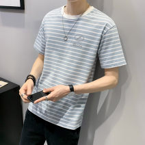 T-shirt Youth fashion Tx012 light green tx012 Khaki thin 4XL M L XL 2XL 3XL First tone Short sleeve Crew neck easy Other leisure summer TX012C3 Cotton 100% routine tide Summer 2021 cotton No iron treatment Pure e-commerce (online only) More than 95%