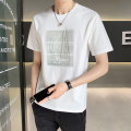 T-shirt Youth fashion Tx88045 white tx88045 black tx88045 gray routine 4XL M L XL 2XL 3XL First tone Short sleeve Crew neck easy go to work summer TX88045B2 Cotton 100% routine tide Summer 2021 cotton No iron treatment Pure e-commerce (online only) More than 95%