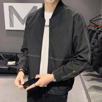 Jacket First tone Youth fashion Jk6601 black 4XL L XL 2XL 3XL routine Self cultivation Other leisure spring JK6601A-2 Polyester 100% Long sleeves Wear out Baseball collar tide routine Zipper placket Straight hem No iron treatment Closing sleeve Spring 2021 Zipper decoration Side seam pocket