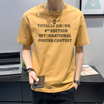 T-shirt Youth fashion thin M L XL 2XL 3XL 4XL First tone Short sleeve Crew neck easy Other leisure summer YC95006-6 Cotton 100% youth routine tide Sweat cloth Summer 2021 Solid color printing cotton other No iron treatment Fashion brand Pure e-commerce (online only) More than 95%