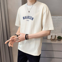T-shirt Youth fashion thin M L XL 2XL First tone Short sleeve Crew neck easy Other leisure summer Cotton 100% routine tide Summer 2021 cotton No iron treatment Pure e-commerce (online only) More than 95%