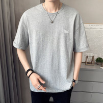 T-shirt Youth fashion 1200 brick red 1200 light grey 1200 dark grey thin 4XL M L XL 2XL 3XL First tone Short sleeve Crew neck easy daily summer 1200-1 Cotton 100% routine tide Summer 2021 cotton No iron treatment Pure e-commerce (online only) More than 95%