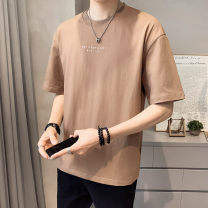 T-shirt Youth fashion Tx015 brown tx015 black tx015 gray tx015 white thin M L XL 2XL First tone Short sleeve Crew neck easy go to work summer TX015-3 Cotton 100% routine tide Summer 2021 cotton No iron treatment Pure e-commerce (online only) More than 95%