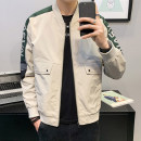 Jacket First tone Youth fashion Wz603 Khaki wz603 black M L XL 2XL 3XL 4XL routine Self cultivation Other leisure spring WZ603A Polyester 100% Long sleeves Wear out Baseball collar tide routine Zipper placket Rib hem No iron treatment Closing sleeve polyester fiber Spring 2021 Zipper decoration
