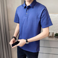 Polo shirt First tone Youth fashion routine 1225 blue 1225 white 1225 brick red 1225 black 1225 orange M L XL 2XL 3XL 4XL Self cultivation Other leisure summer Short sleeve 1225R tide routine youth Cotton 96.7% polyurethane elastic fiber (spandex) 3.3% other cotton No iron treatment Button decoration
