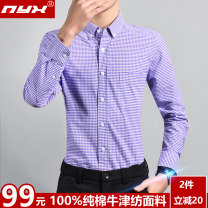 shirt Fashion City Q.Y.X 38 39 40 41 42 43 44 routine Button collar Long sleeves Self cultivation Other leisure spring youth Cotton 100% Business Casual 2020 lattice Plaid Spring 2020 No iron treatment cotton Button decoration Pure e-commerce (online only) More than 95%