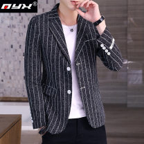man 's suit Black blue grey light grey Q.Y.X Fashion City routine M L XL 2XL 3XL 1654165-9651 Polyester 88.7% viscose 11.3% Spring 2020 Self cultivation Double breasted Other leisure Back middle slit youth Long sleeves spring routine Business Casual Casual clothes Regular collar (collar width 7-9cm)