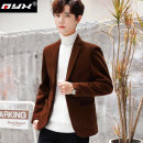 man 's suit Black brown grey Q.Y.X Fashion City thick 4XL M L XL 2XL 3XL 16514654-9061 Polyester 86.4% viscose 13.6% Winter of 2019 Self cultivation Double breasted Other leisure Back middle slit youth Long sleeves winter routine Business Casual Casual clothes Regular collar (collar width 7-9cm)