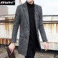 woolen coat Grey black M L XL 2XL 3XL Q.Y.X Business gentleman 1321654-9088 Polyester fiber 45.1% viscose fiber (viscose fiber) 36.6% polyamide fiber (polyamide fiber) 16.7% polyurethane elastic fiber (spandex) 1.6% Wool like (TR) Winter of 2019 Medium length Other leisure Self cultivation youth