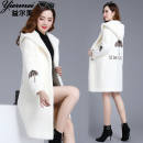 leather and fur Winter of 2019 Other / other White, pink M 100 kg, l 100-115 kg, XL 115-125 kg, 2XL 125-135 kg, 3XL 135-150 kg Medium length Hood other