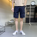 Casual pants ZNRN Youth fashion 30 32 34 36 38 routine Shorts (up to knee) Other leisure easy No bullet summer teenagers tide 2019 middle-waisted Straight cylinder Cotton 100% Overalls Pocket decoration No iron treatment Solid color Khaki Summer of 2019 Pure e-commerce (online only)