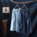 Jeans Summer 2021 Light blue dark blue S M L XL Cropped Trousers High waist Wide legged trousers 30-34 years old Cotton denim WZ - twenty-one thousand and thirteen Wojow / Wuzhuang Other 100% Pure e-commerce (online only)