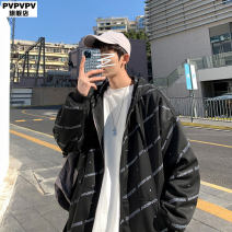 Sweater Youth fashion PVPVPV Black grey M L XL 2XL 3XL 4XL 5XL XXXL XXXXL XXXXXL other Cardigan routine Crew neck spring easy leisure time Large size Japanese Retro routine Polyester 100% printing Spring 2021 Pure e-commerce (online only)