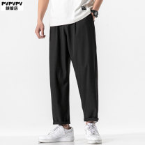 Casual pants PVPVPV Youth fashion Hk20016 black hk20016 grey M L XL 2XL 3XL 4XL 5XL XXXL XXXXL XXXXXL routine Ninth pants Other leisure easy Micro bomb 41HK20016 summer Large size Japanese Retro 2020 Medium low back Straight cylinder Polyester 100% Sports pants washing Summer 2020