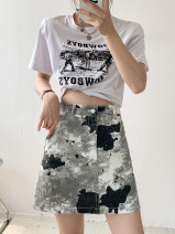 skirt Summer 2021 M,L,XL Picture color Short skirt commute High waist A-line skirt other Type A 18-24 years old 30% and below other Other / other