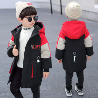 Cotton padded jacket male No detachable cap Cotton 91% - 95% Other / other Red, blue Size 110 - about 100cm, Size 120 - about 110cm, Size 130 - about 120cm, size 140 - about 130cm, size 150 - about 140cm, size 160 - about 150cm thickening Zipper shirt leisure time other Cotton blended fabric Class B