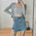 skirt Summer 2021 S,M,L Blue, khaki, black Short skirt commute High waist A-line skirt Solid color Type A 18-24 years old YXX214161 71% (inclusive) - 80% (inclusive) Denim Other / other cotton Pocket, button Korean version